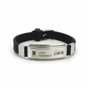 BTS K-pop Stainless-Steel Silicon Wristband