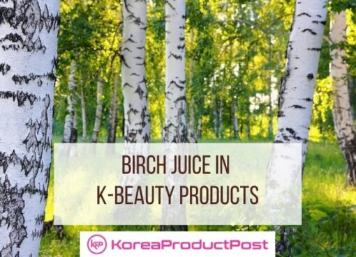 birch juice in k-beauty