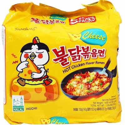 Samyang Fire Hot Cheese Flavored Chicken Ramen Noodles